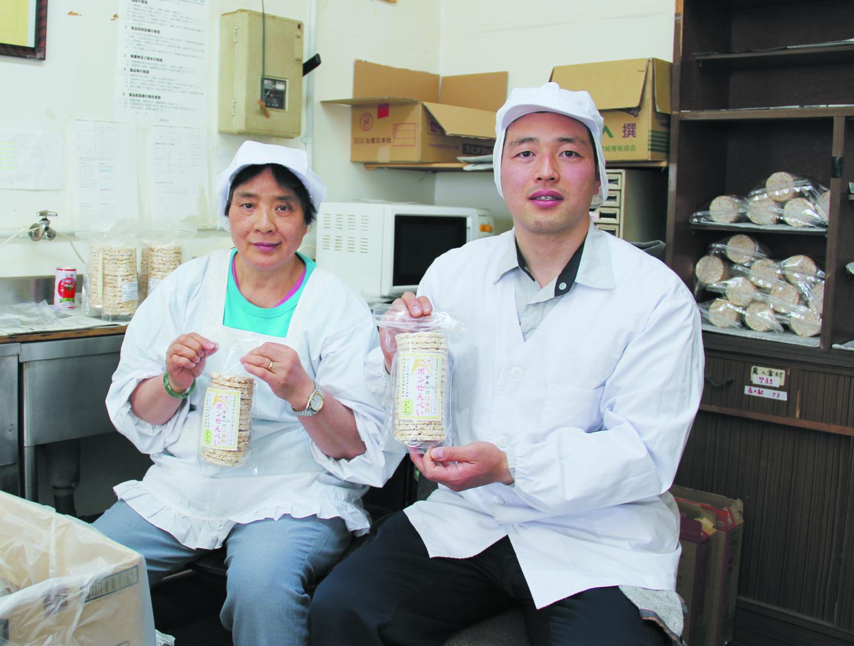 懐かしい味 ポンせんべい 小宮山に製造工場