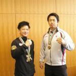 塩川貫太さん  クリナップ(左) 小柳和也さん  自衛隊体育学校(右)