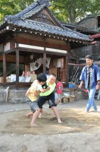 さ・大伴神社の子ども相撲