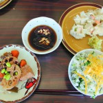 彩り豊かな4品の料理